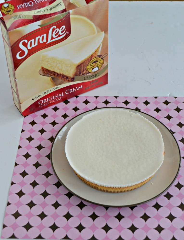 Turn a Sara Lee Classic Cheesecake into a show stopping dessert with just 4 simple ingredients