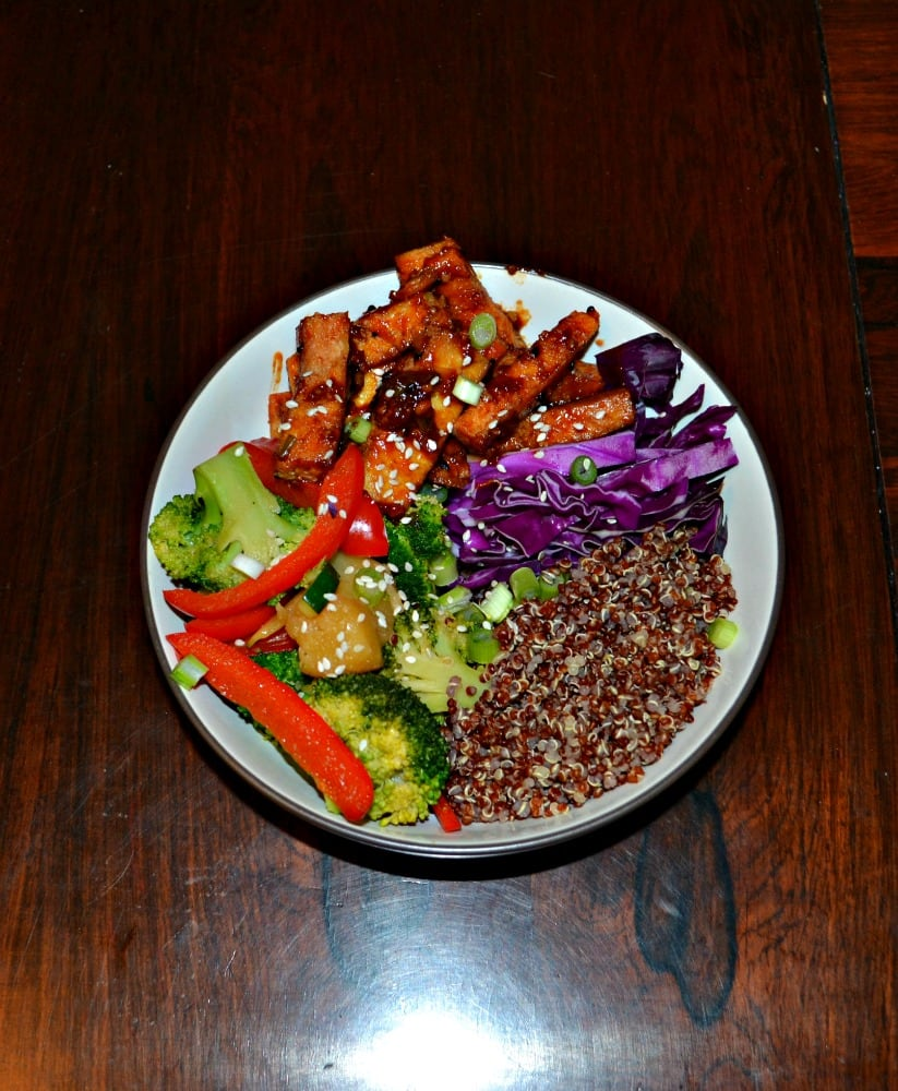 I love this delicious, flavorful, and colorful Korean BBQ Tofu Bowl!