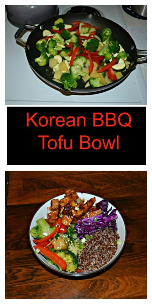 Check out this easy, healthy, and delicious Korean BBQ Tofu Bowl