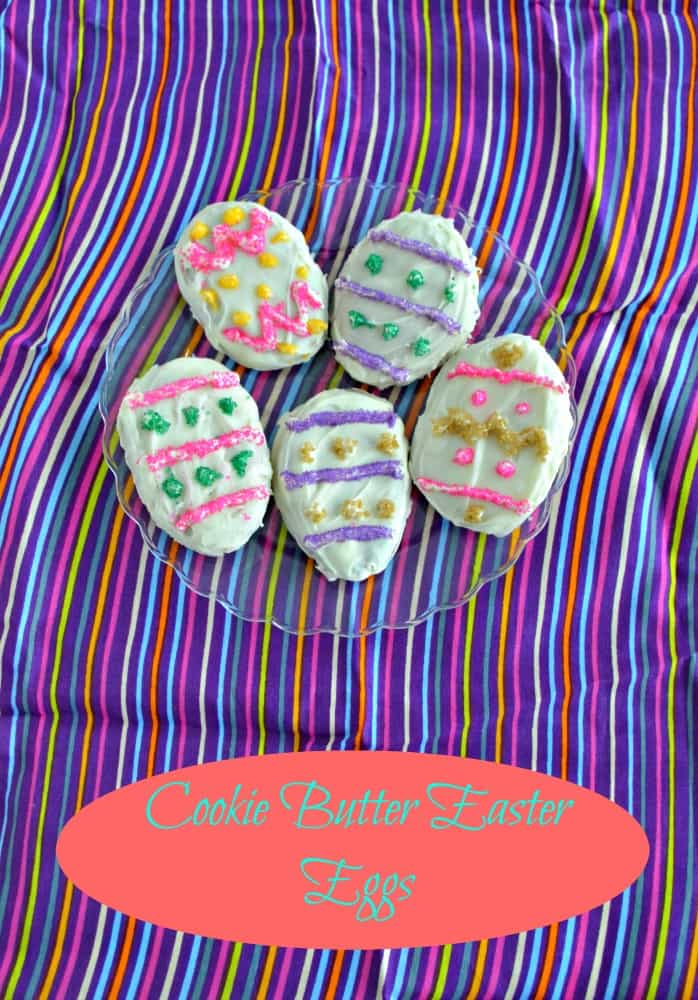Delicious Cookie Butter Easter Eggs dipper in white chocolate