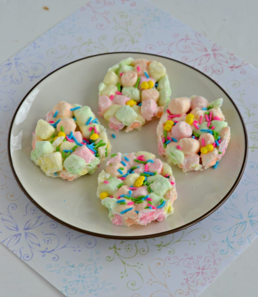 Try this easy Marshmallow Easter Fudge and cut it out into fun shapes