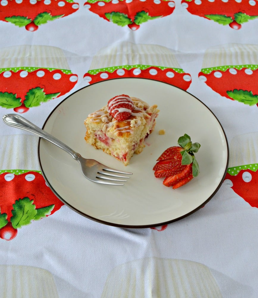Serve someone special this Strawberry Coffee Cake with Greek Yogurt in the morning!