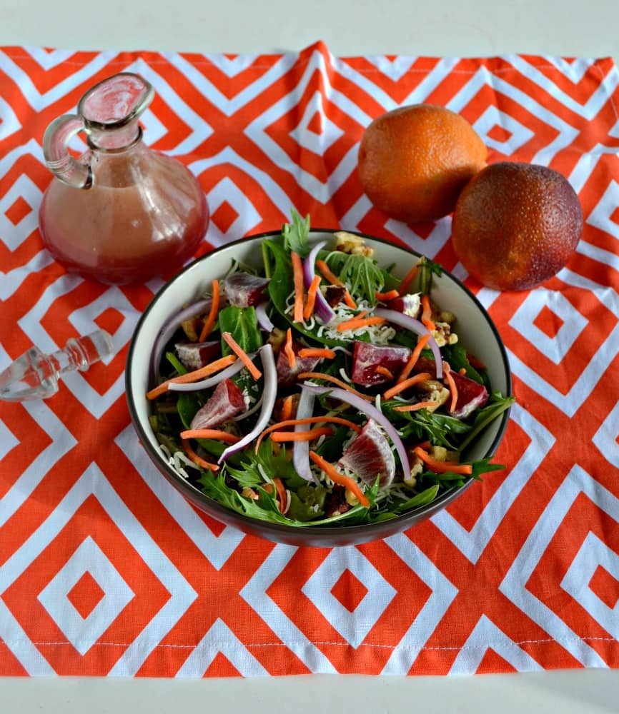 Who likes blood oranges? Check out this incredible Winter Salad with Blood Orange Vinaigrette