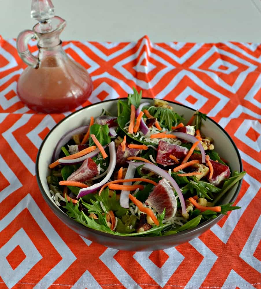 Enjoy a tasty Winter Salad with a homemade Blood Orange Vinaigrette