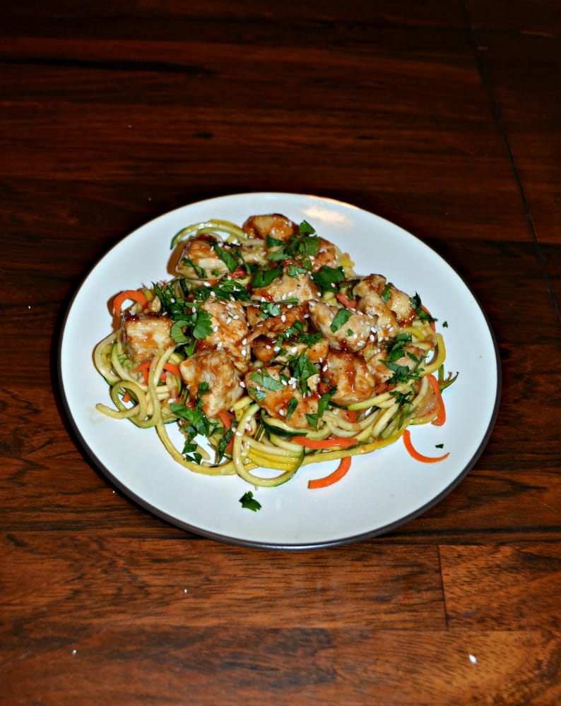 I love this Chicken and Tangy Peanut Sauce over Carrot and Squash Noodles as a healthy dish!