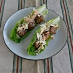 Thai Meatball Lettuce Wraps #SundaySupper