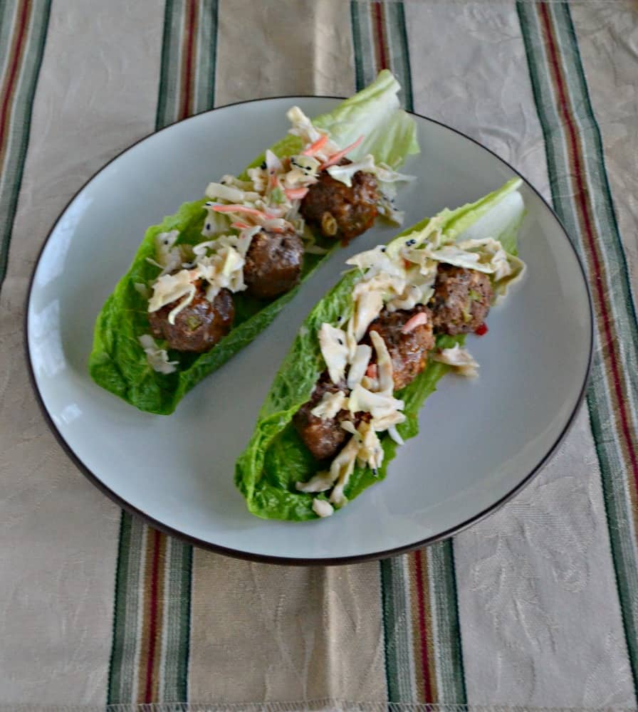 Looking for a little flavor? You'll get a lot with these Thai Meatball Lettucec Wraps!