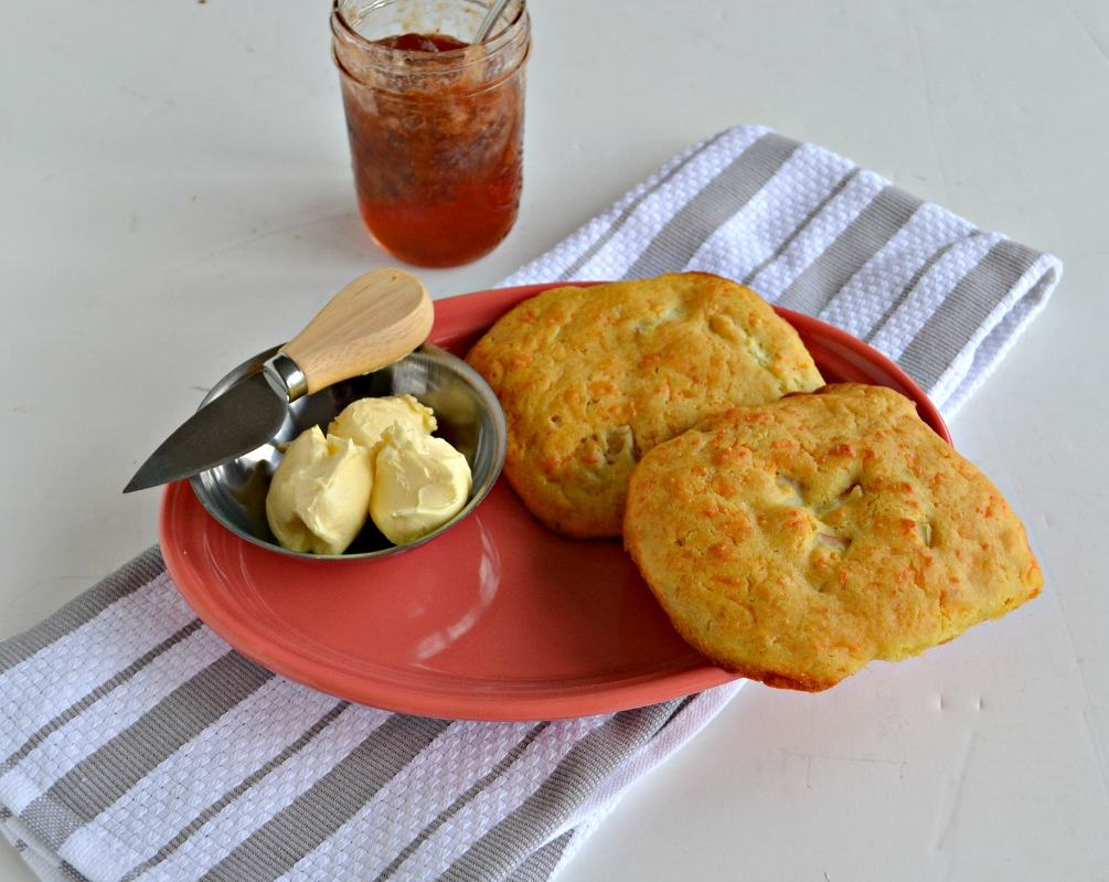 Enjoy these Apple Cheddar Scones with butter or jam