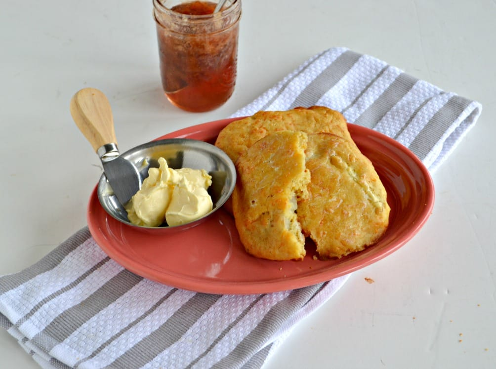 Enjoy a sweet and savory Apple Cheddar Scone