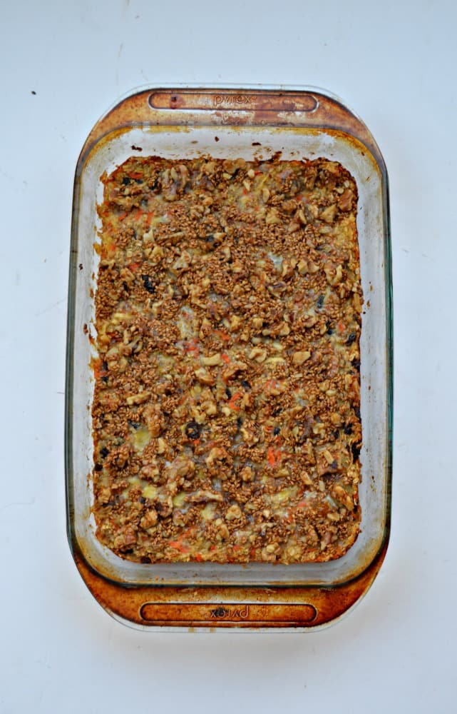 Baked up a delicious Carrot Cake Oatmeal for Breakfast!