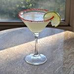 Enjoy a refreshing Cherry Lime Martini