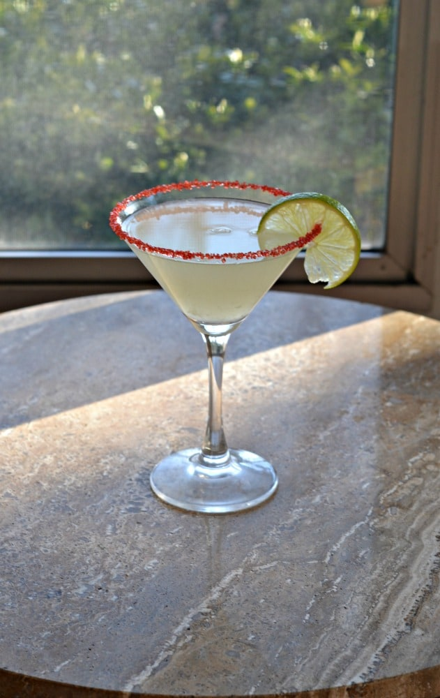Enjoy a refreshing Cherry Lime Martini