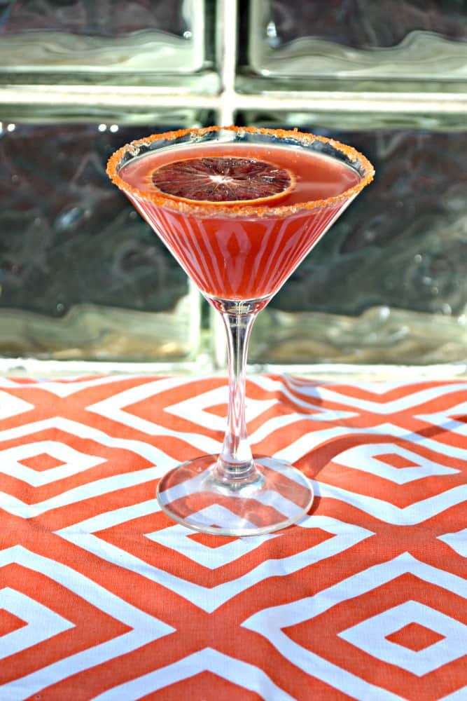 Blended with fresh citrus juice and citrus liquor this Citrus Martini is always a favorite