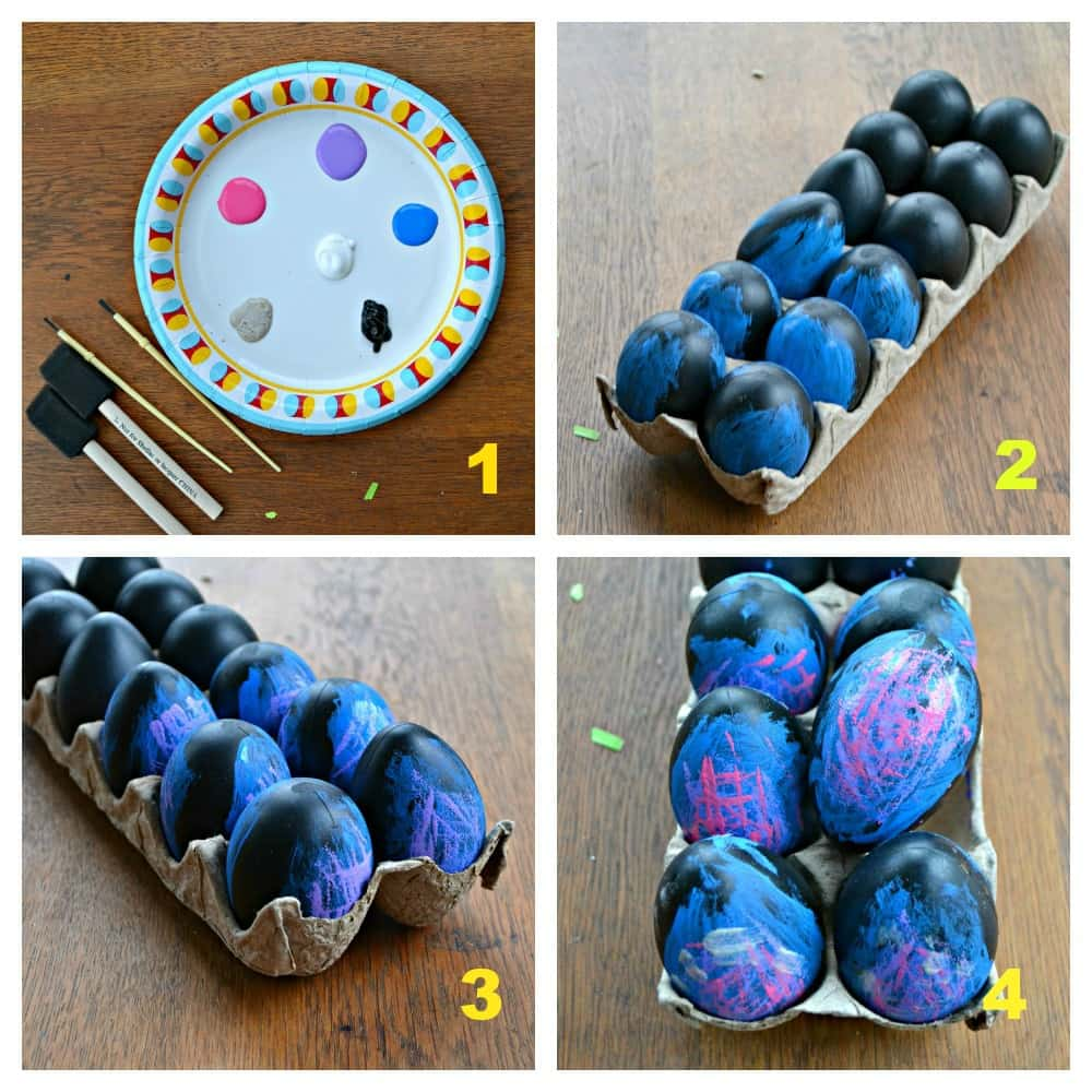 Just a few steps turn eggs into Galaxy Easter eggs!