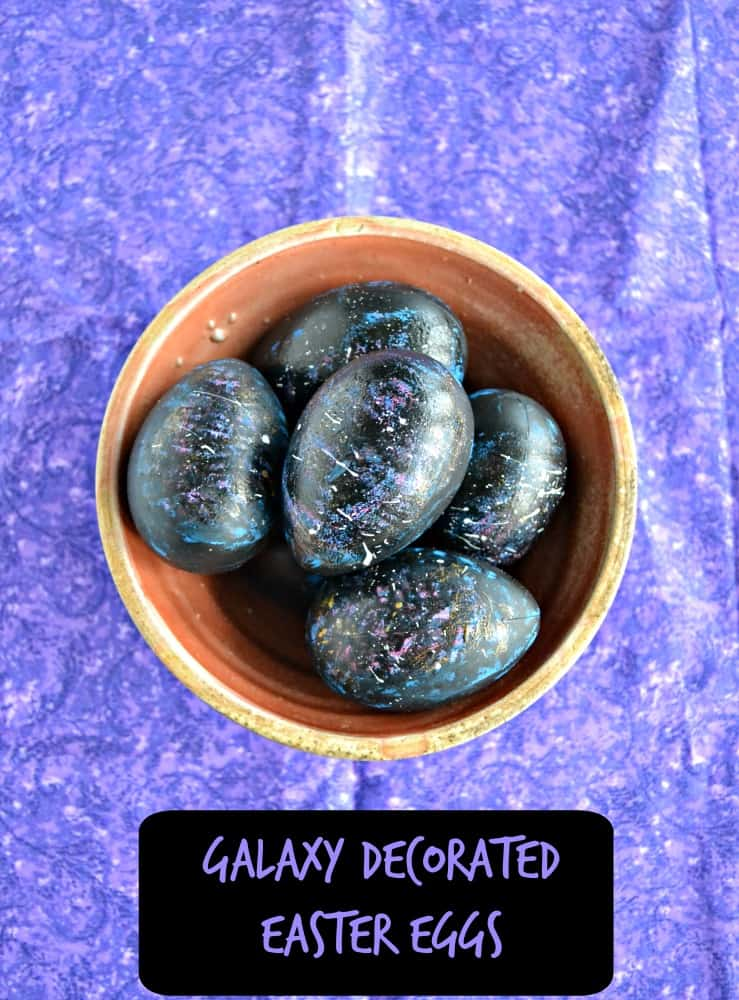 Turn your eggs into fabulous Galaxy Easter Eggs with just a little paint!