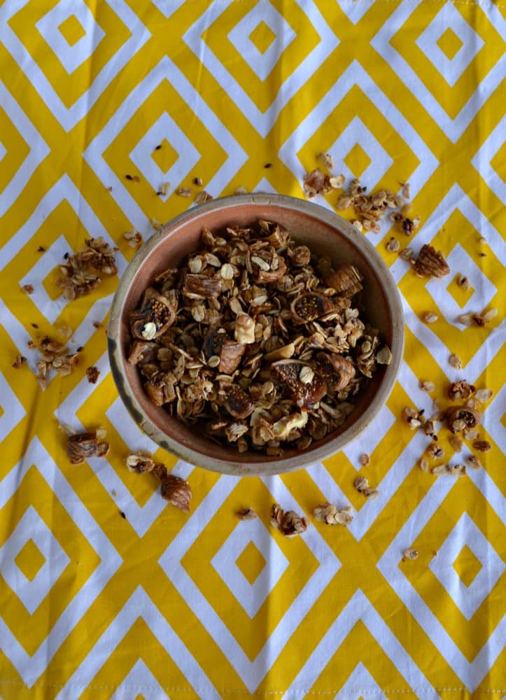 There's nothing like a bowl of homemade granola with figs to start the morning