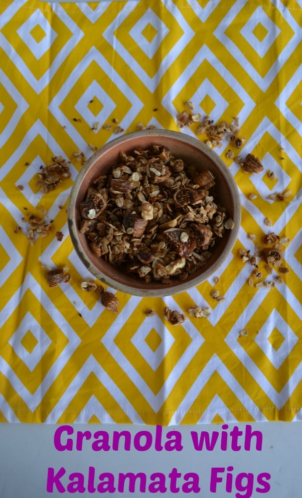 Love homemade granola and this version with figs is delicious!