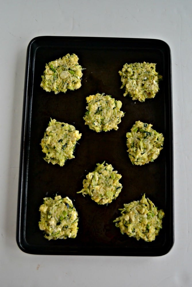 Greek Zucchini Fritters are an easy appetizer or side dish