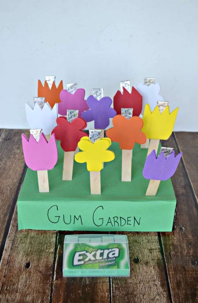 Make a fun DIY Gum garden to share with all of your friends