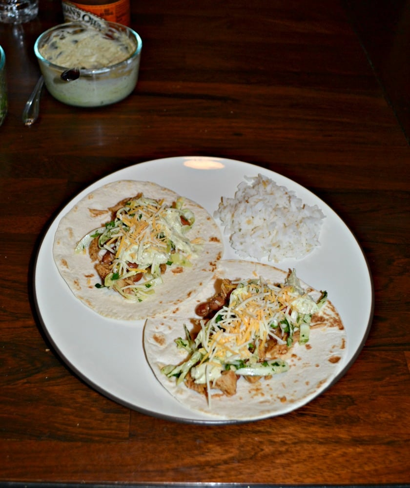 Give your tacos a make over with these delicious Pork and Pinto Bean Tacos with Jalapeno Slaw and Avocado cream