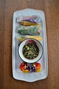 Fresh Vegetable Rainbow Rolls #SundaySupper