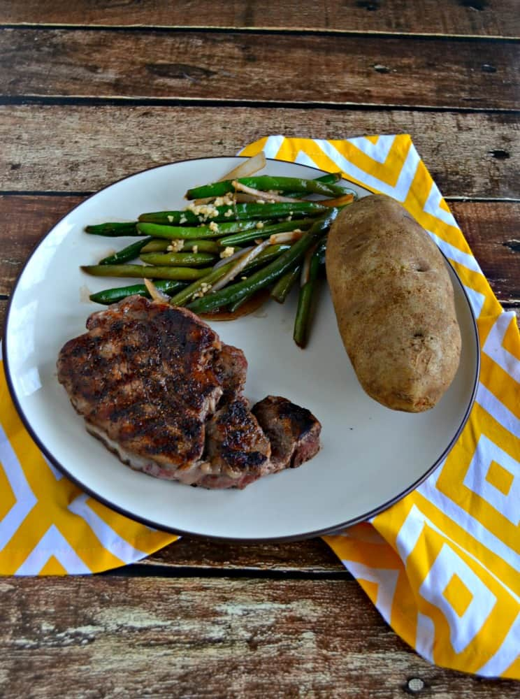 Enjoy a delicious Grilled Peppercorn Crusted Filet Mignon with gorgeous diamond grill marks!