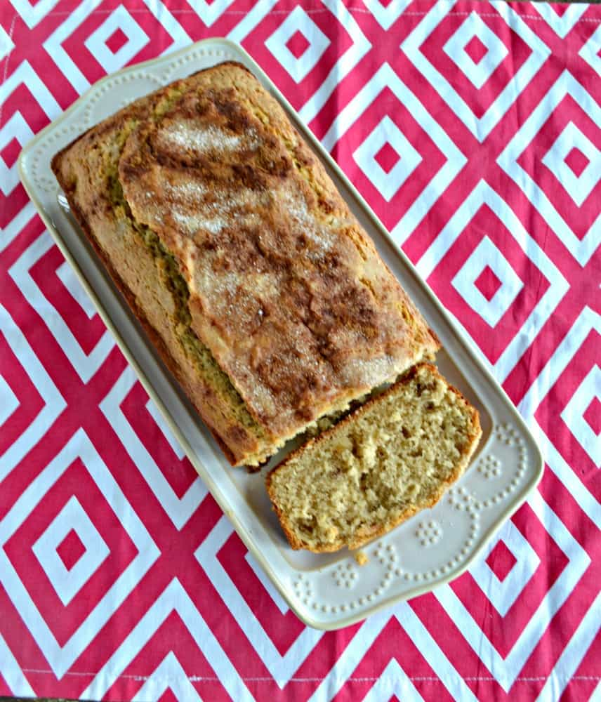 Applesauce Spice Bread is filled with spices, applesauce, and nuts for the ultimate breakfast bread.