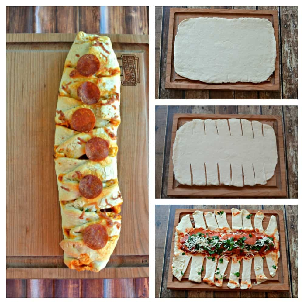 Once you make the dough this Braided Pepperoni Pizza Bread is easy to make!