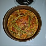 Crustless Kielbasa, Pepper, and Asparagus Quiche