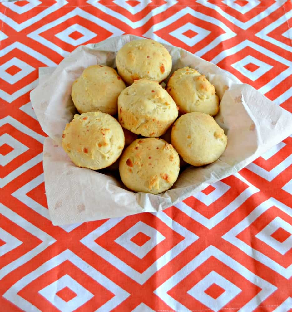 Serve up these delicious Garlic Cheddar Dinner Rolls at your next dinner party!