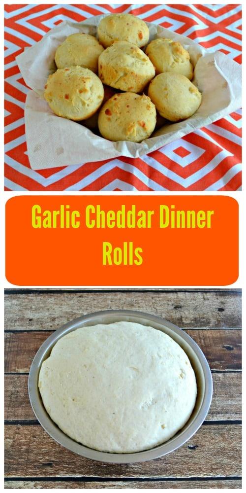Garlic Cheddar Dinner Rolls