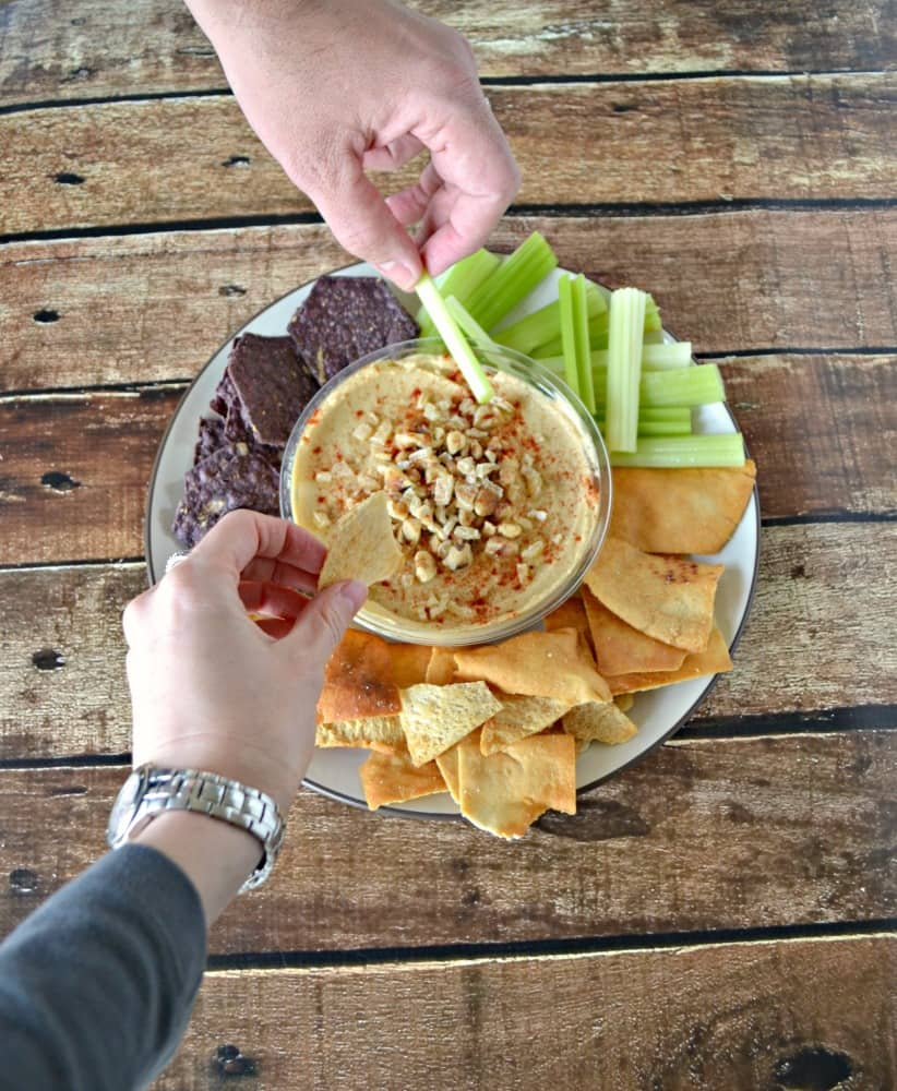 Everyone want to dip into hummus with Ginger and Walnuts