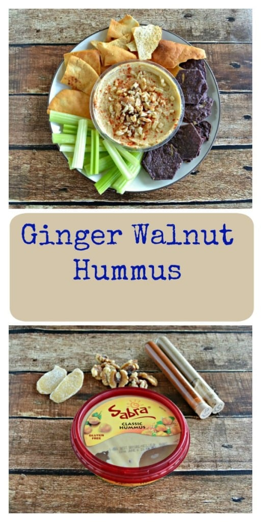 Ginger Walnut Hummus is delicious any time of day! A great snack time recipe.