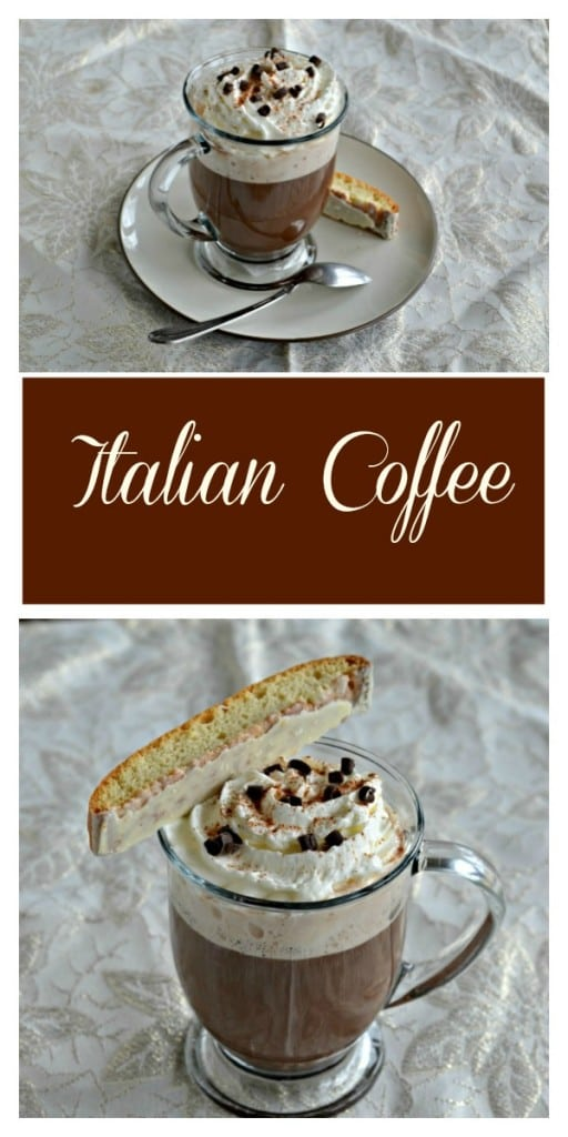 Pair this rich and creamy Italian Coffee with a Biscotti for an afternoon treat