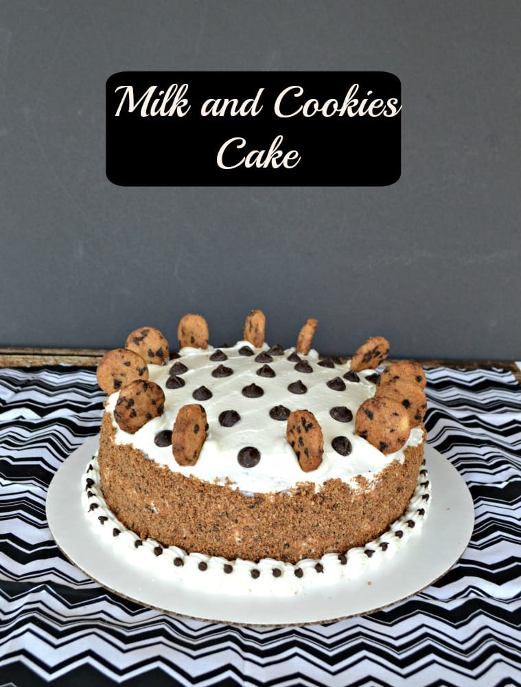 This Milk and Cookies Cake would bit a hit at any party!