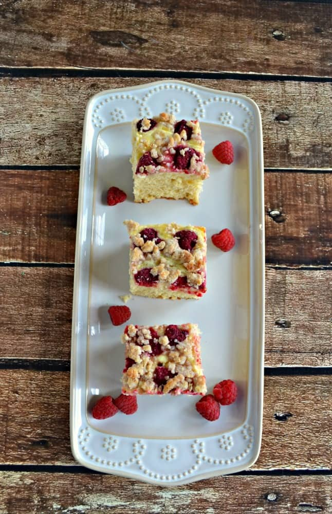 Breakfast or brunch this Raspberry Cream Cheese Coffee Cake is perfect!