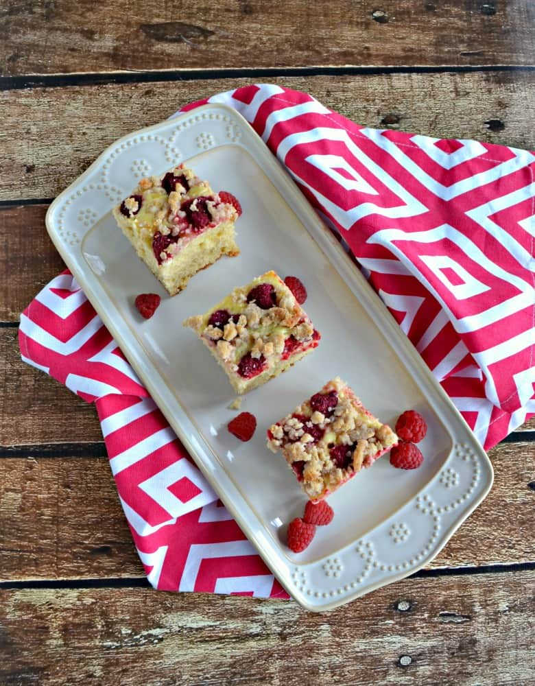 Take your coffee cake up a notch with raspberries, cream cheese filling, and a crumble topping