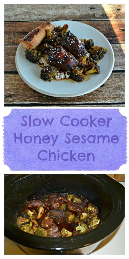 Slow Cooker Honey Sesame Chicken is great for busy weeknight meals!
