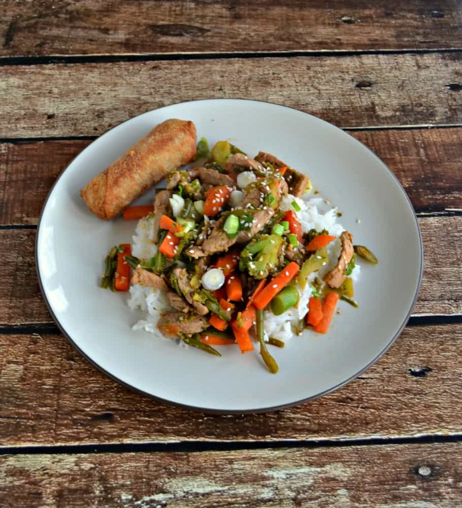 Grab a fork and dig into this delicious Sweet and Spicy Pork Stir Fry