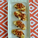 Apple, Chorizo, and Manchego Crostini