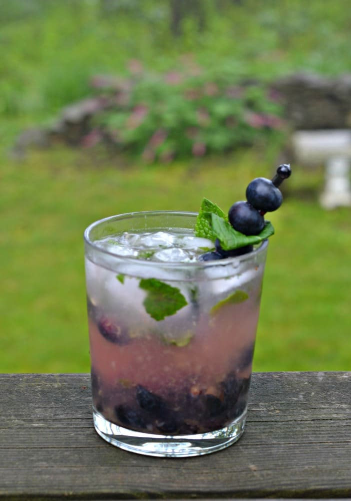 Sit on the porch and sip a Blueberry Mojito this summer