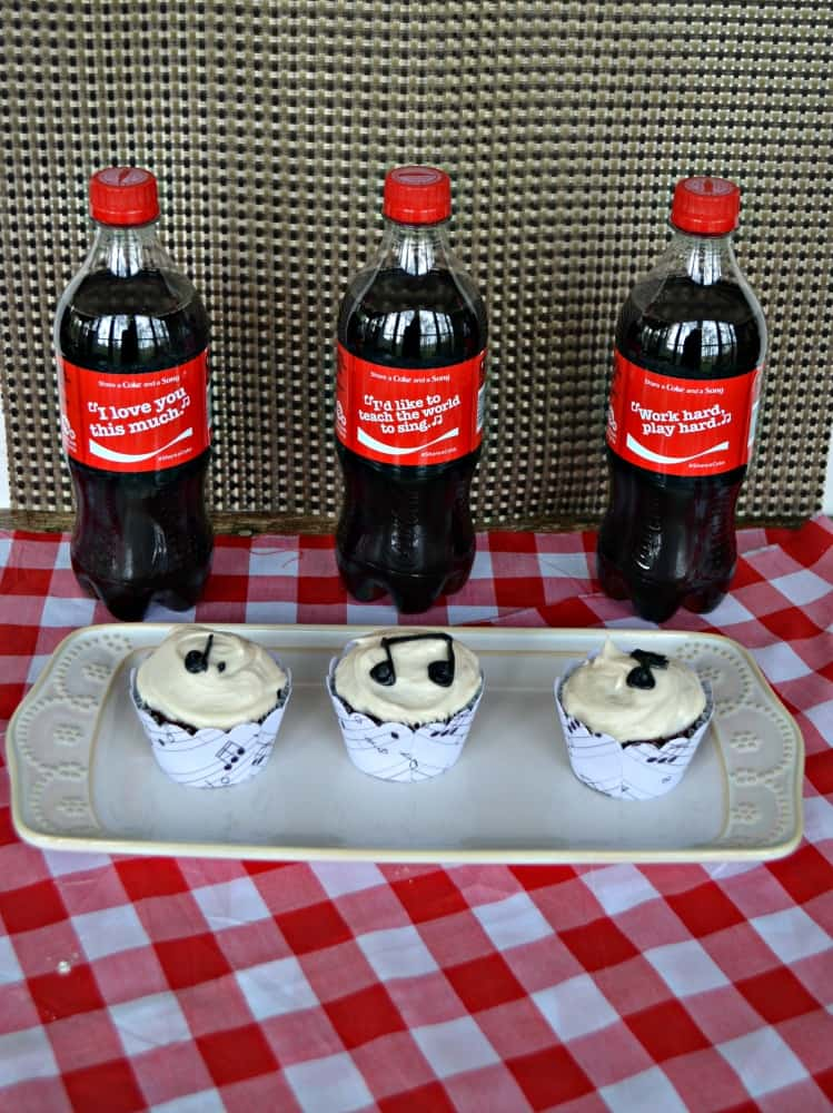 Share a Coke and a Song with these tasty Coca-Cola Chocolate Cupcakes!