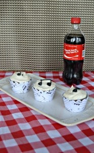 Love these fun Coca-Cola Chocolate Cupcakes with music notes on them!