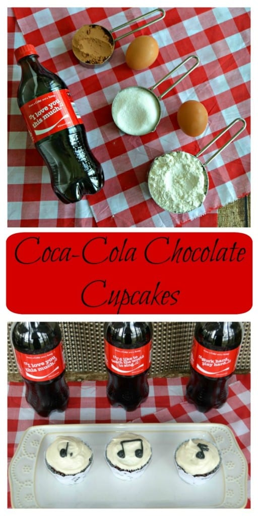 It only takes a few ingredients to make Coca-Cola Chocolate Cupcakes with music notes on them!