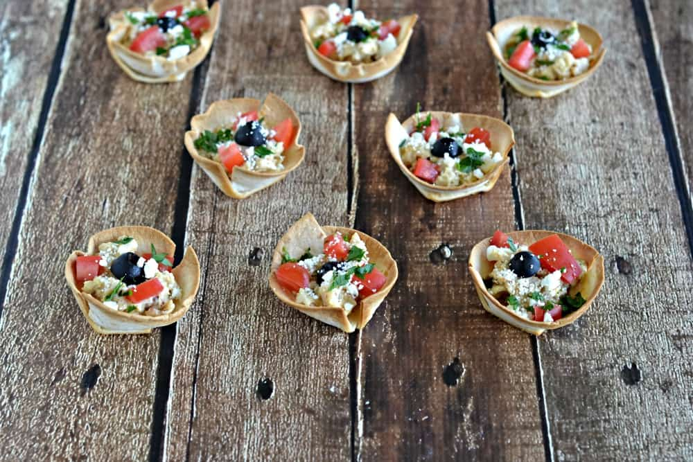Greek Hummus Chicken Bites are a delicious appetizer