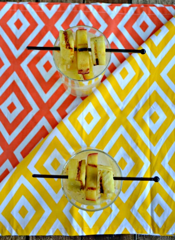Fire up the grill and make this tasty Grilled peach and Pineapple Sangria!