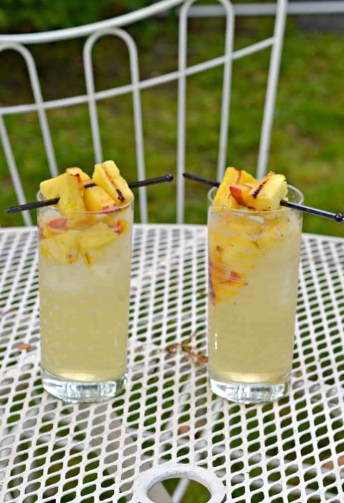Sip on a Grilled Peach and Pineapple Sangria at your next party! {recipe}