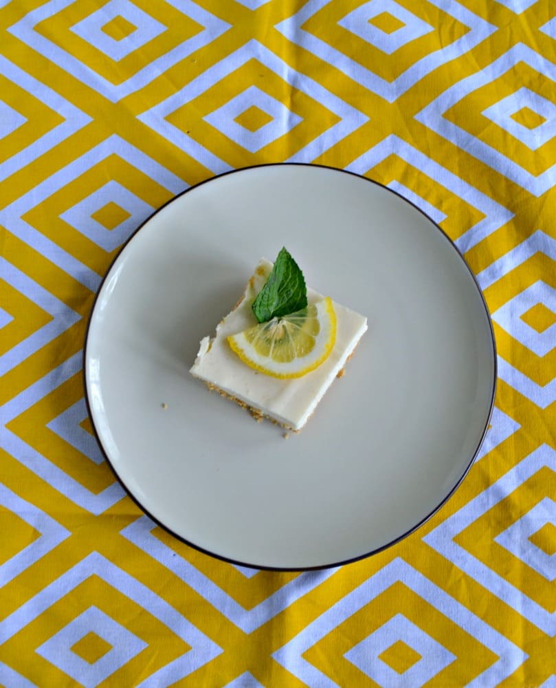 Love the flavor of these cool Icebox Lemon Bars!