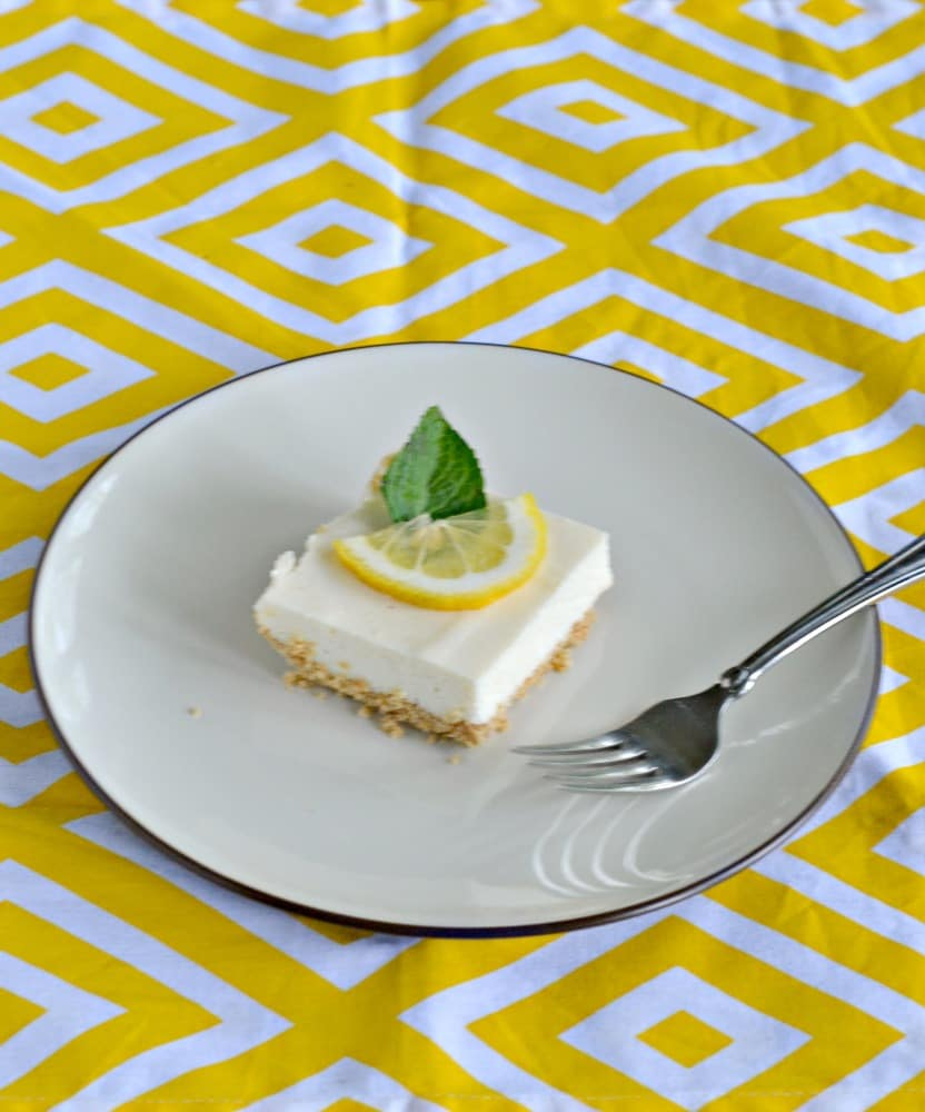 Icebox Lemon Bars are perfect for summer parties and BBQ's