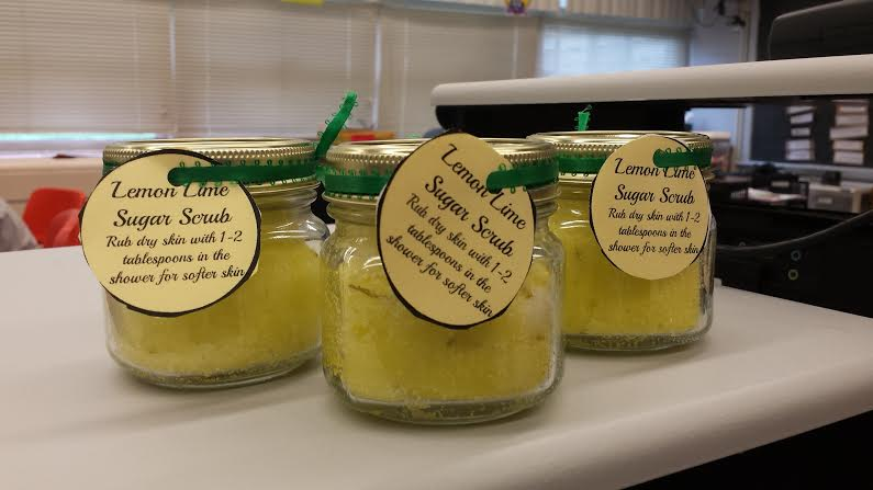 Put a tag on your Lemon Lime Sugar Scrub and give it as a gift!